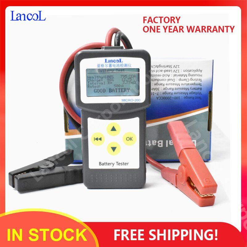 Lancol Micro200 Diagnostics Tools Digital Car Automotive Battery Tools Auto Factory CCA100-2000 Battery Tester Car Tester Tools