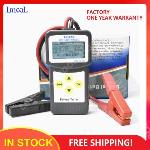 Lancol Micro200 Diagnostics ToolsCar Automotive Battery Tools Auto Factory For Cars  CCA100-2000 Battery Tester Car Tester Tools