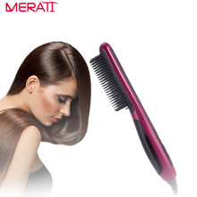 2017 Hair Straightener Comb Brush PTC Ceramic Heating Straightening Curling Anti Scald Static Flat Plates Irons Comb