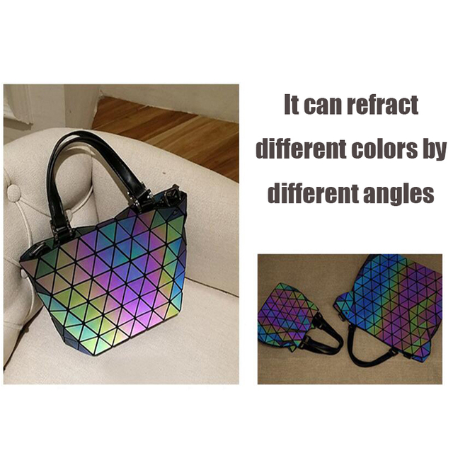 Geometric baobao women's handbag big European style luminous Lingge bao bao women bag Brand Design tote fashion Ladies bags