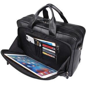 Мужской большой портфель Nesitu, Черный Кофейный портфель из натуральной кожи, сумка-мессенджер для ноутбука 15,6 дюйма, 14 дюймов, деловая дорожн...
