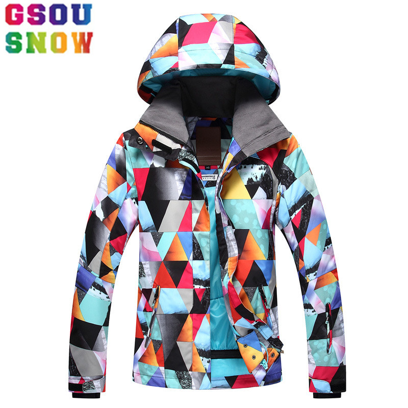 цена на GSOU SNOW Brand Ski Jacket Women Snowboard Jacket Waterproof Cheap Ski Suit Winter Outdoor Ladies Sport Clothes New Arrival 2017