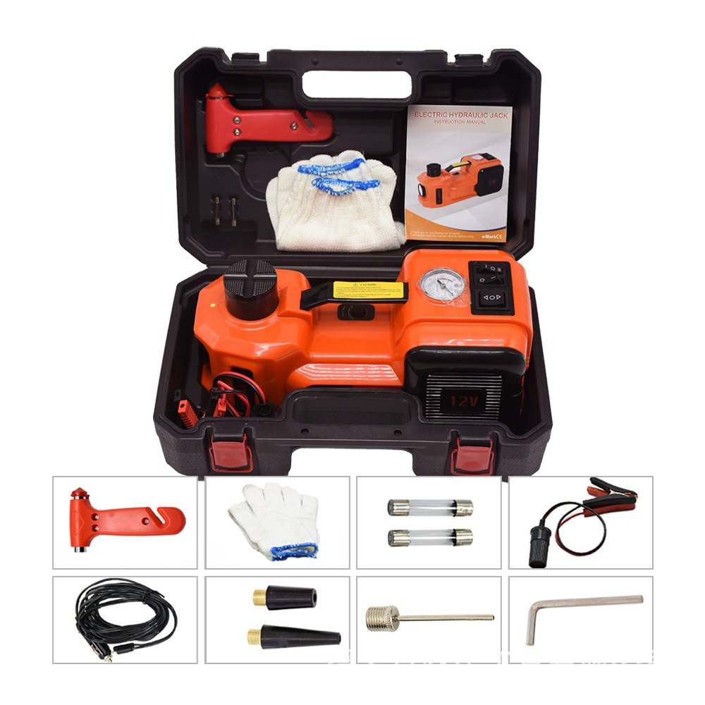 3 In 1 Car Electric Jack Hydraulic Floor 12V DC 5 Ton Lift Scissor Jack Repair Tool Auto Emergency Roadside Tire Change Lifting
