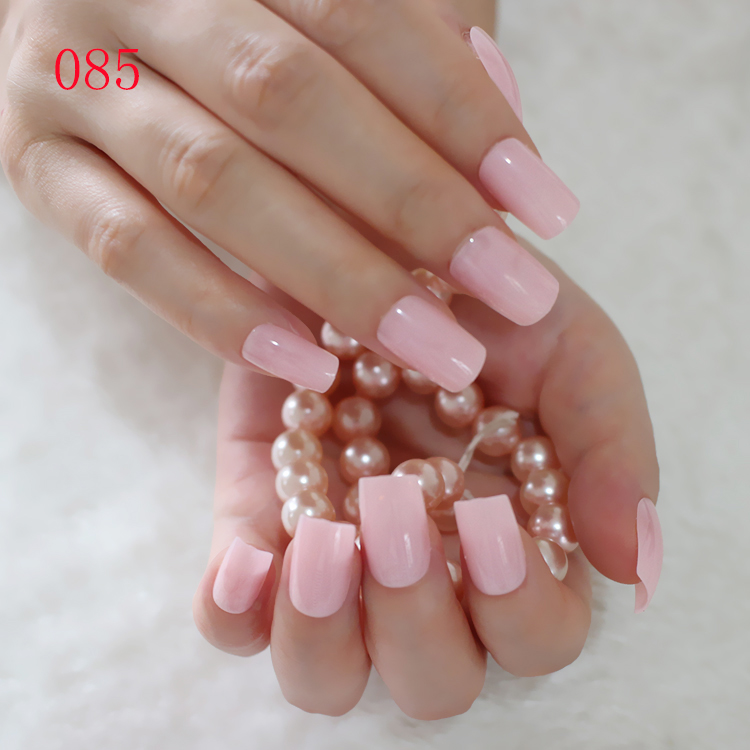 Fashion Flat False Nails Clear Light Pink Fake Nail Tips