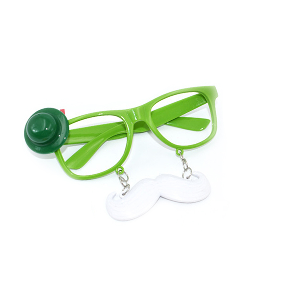 Reasonable Funny Shamrock Design Sunglasses Creative Holiday Cosplay Costume Glasses Accessory Apparel Accessories