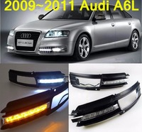 Car-styling,A6L daytime light,2009~2011,LED,Free ship!2pcs,car-detector,A6L fog light,car-covers,steering-wheel; A6 L