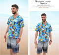 New Arrival Lovers Short-Sleeved Hawaiian Shirt Man And Women Casual  Floral Beach Shirt  Camisa Masculino Free Shipping J57