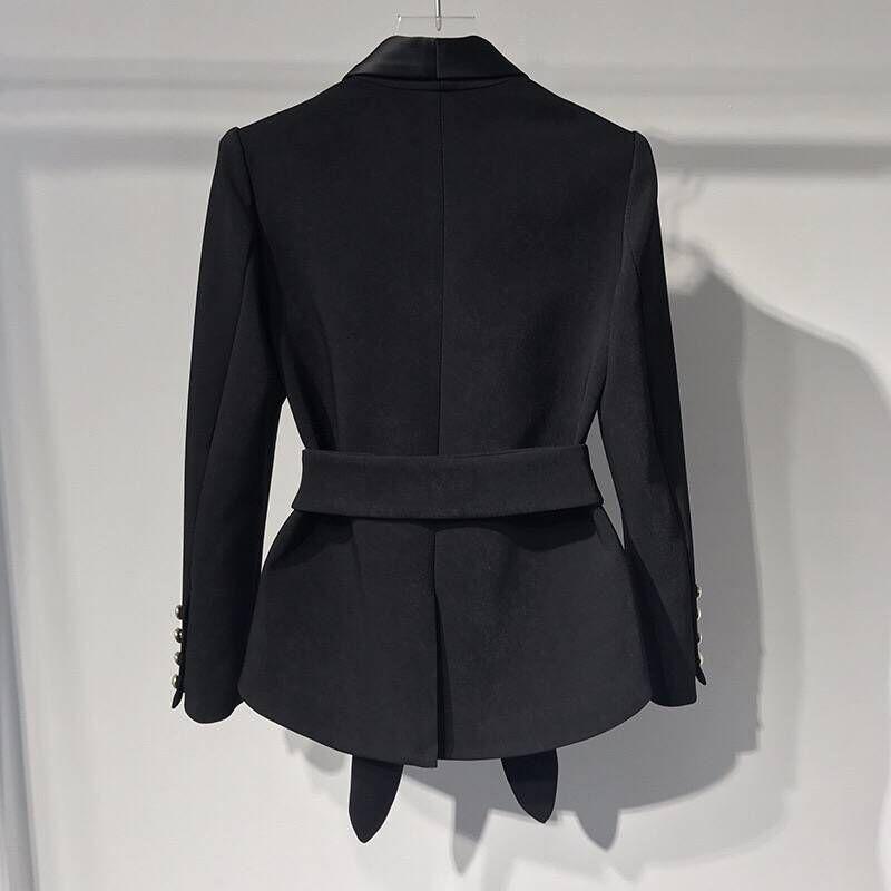 En Était Blazers Black Femmes Slim Mode Double 2018 Mince Women Métal Boutons Originale Automne Et Boutonnage Feminino Blazer Conception Hiver Vestes wZnHE7xW5q