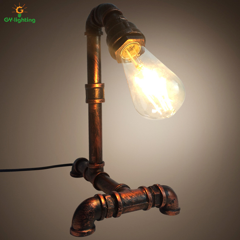Retro Table Lamp Decorative Bedside Lamp Creative Deco Maison Bedroom Study Room Pipe Desk Lamp abajur para quarto table lamps desk lamp table lamps for bedroom study livingroom night light simple and stylish bedside decorative lamp