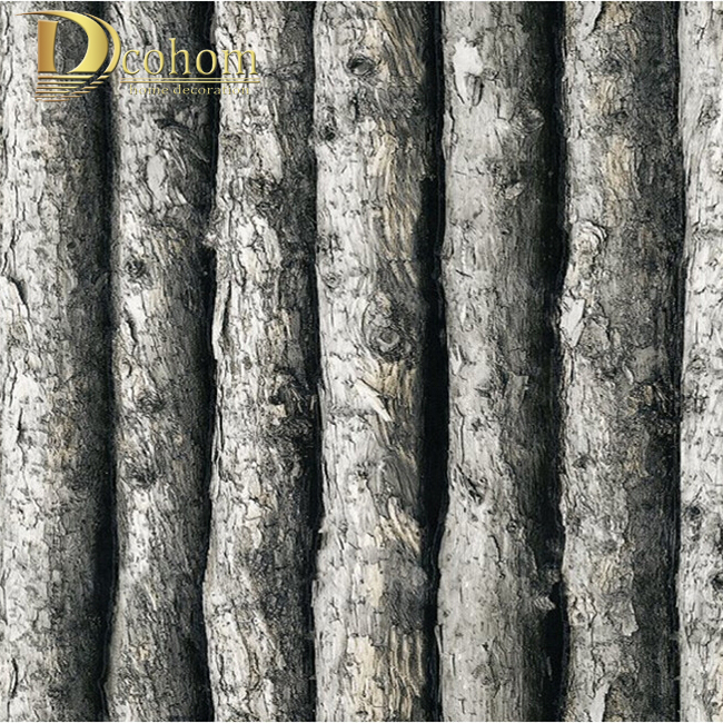 Wood Textured  Vinyl 3D Wallpaper Forest Thick Embossed Tree of Wall paper Roll Home Decor tapete for background wall R302 new original nmb 3610ps 22t b30 92 25mm ac220v 13w axial radiator cooling fan