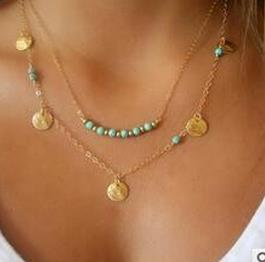 2018 Choker Collier Collares Maxi Necklace Turquoi Women Accessories Chain Neckless Gift Sale Coin New Fashion Nacklace Jewelry ...
