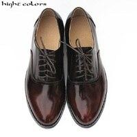 Женские туфли оксфорды в британском ретро стиле из натуральной кожи золотистого цвета + Серебристые лоферы на все сезоны, хит продаж, фирмен