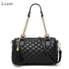 Lisse PU Zipper Striped Lingge Bag 2018 New European and American Fashion Wild Women Handbag Simple One Shoulder Crossbody