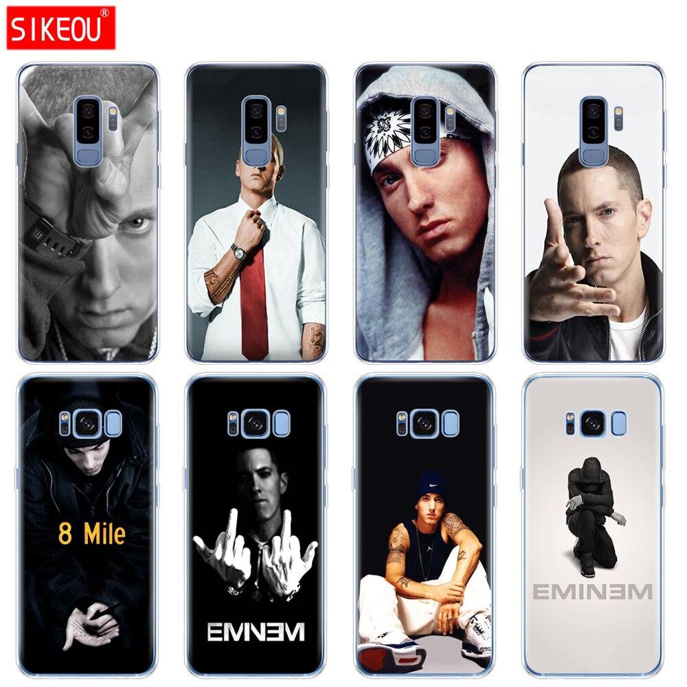 Силиконовый чехол для Samsung Galaxy S9 S8 S7 S6 край S5 S4 S3 плюс чехол телефона хип-хоп рэппер Эминем rap