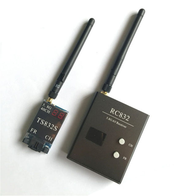 Upgraded TS832S Image Transmission 40CH 600mW 5.8G Wireless AV Transmitter TX + RC832 40CH Receiver RX for FPV Multicopter