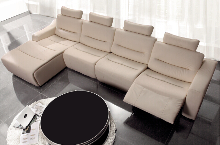 modern sofa set l shape sofa set designs recliner leather sofa set with genuine leather - Reclining Leather Sofa