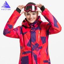 VECTEUR Professionnel Femmes Coupe-Vent Imperméable Ski Veste Manteaux D'hiver Chaud Sport En Plein Air de Neige Ski Snowboard Vêtements