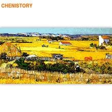 Картина для рисования по номерам на холсте 60x120 см