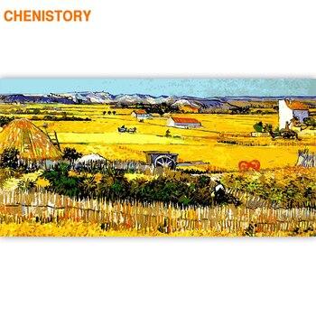 CHENISTORY Berühmte Bild Rahmen 60x120cm DIY Malerei Durch Zahlen Große Größe Moderne Wand Kunst Ölgemälde Auf leinwand Für Home Kunst
