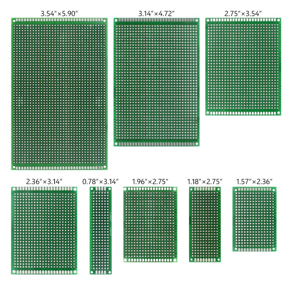 8 Sizes Mixture PCB Circuit Board Prototype Breadboard For Arduino DIY 40Pcs prototype universal printed circuit board breadboard brown 5 piece pack