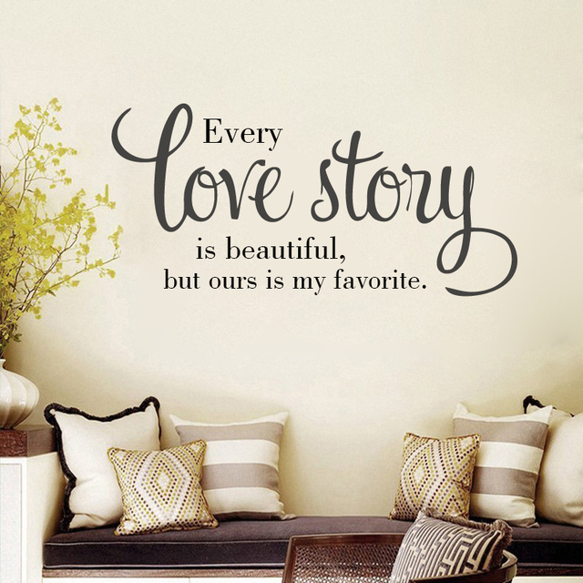 G59 English Letters Wall Tattoo Love Story Quote Sticker Diy Home Living Room Bedroom Decoration Art Decor Decal