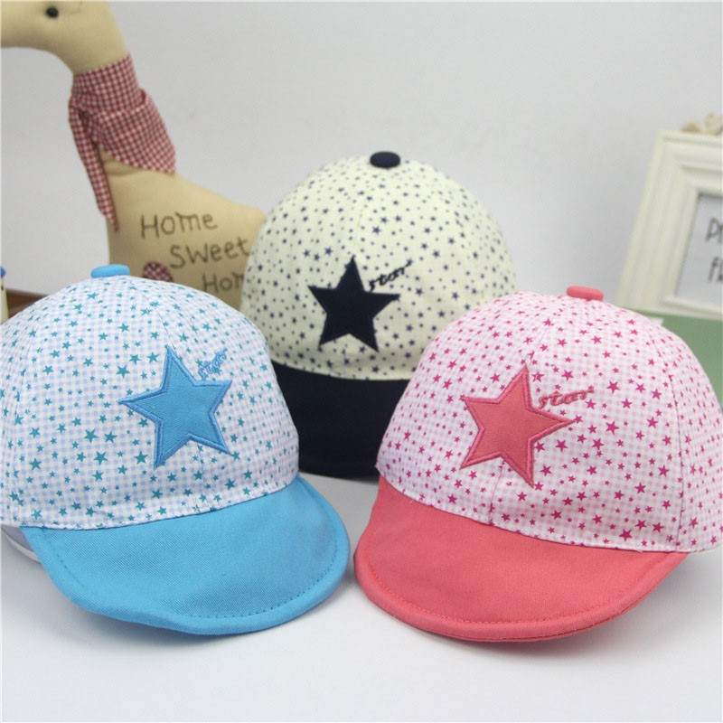 Embroidered Twinkle and Star Baby's Baseball Cap - Available Colors