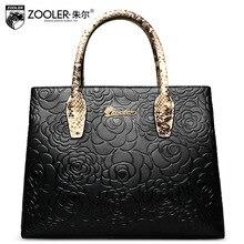 ZOOLER Frauen Aus Echtem Leder Handtasche Ol Damen Luxus Handtaschenfrauen-designer Geprägt Umhängetasche Floral Frau Tragetaschen