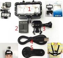 Underwater Fill Light LED Light Lamp Flashlight Diving For Gopro Hero 9 8 7 5 session SJ4000 SJ8/9/10 Xiaomi yi 4k Mijia EKEN H9