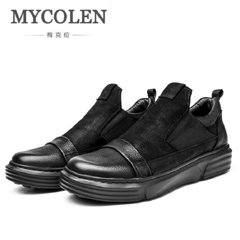 MYCOLEN New Arrival Mens Breathable Top Quality Casual Shoes Leather Casual Shoes Slip On Men Loafer Herenschoenen Loafers 2017 new spring imported leather men s shoes white eather shoes breathable sneaker fashion men casual shoes
