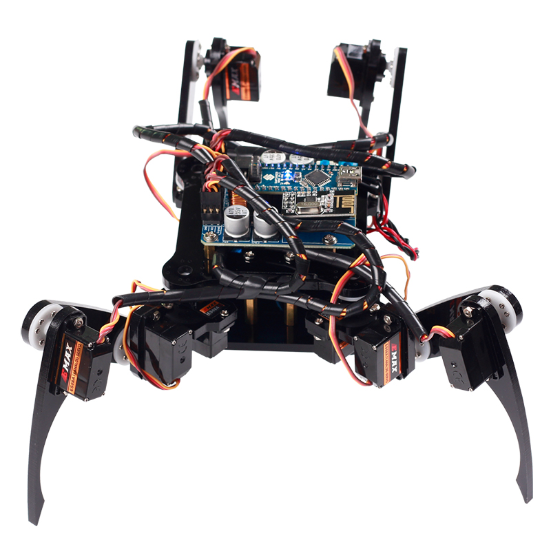 SunFounder Remote Control Crawling Robotics Model DIY Kit For Arduino Electronics Servo Motor RC Smart Robot Kit Toys