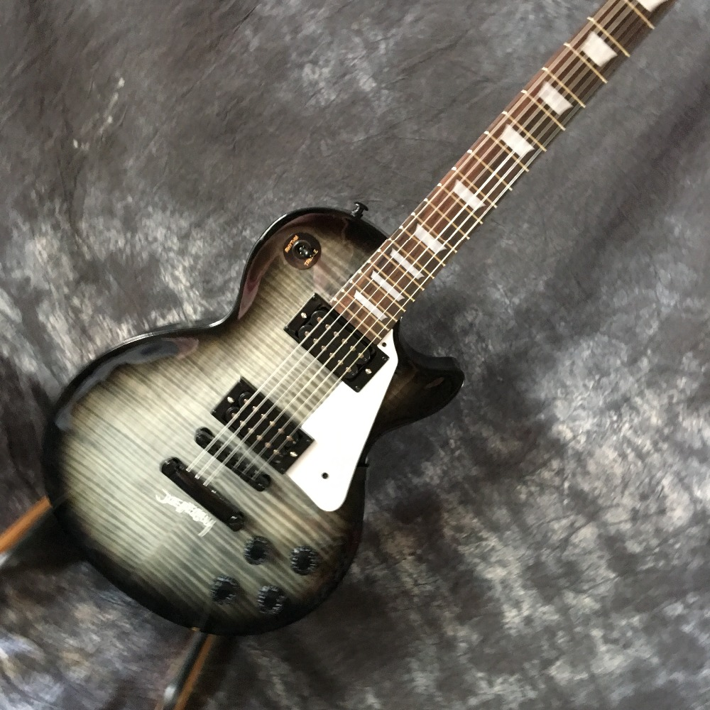 Custom Shop Lp standard electric guitar tobacco sunburst color abalone inlay lp guitar quilted maple top guitars