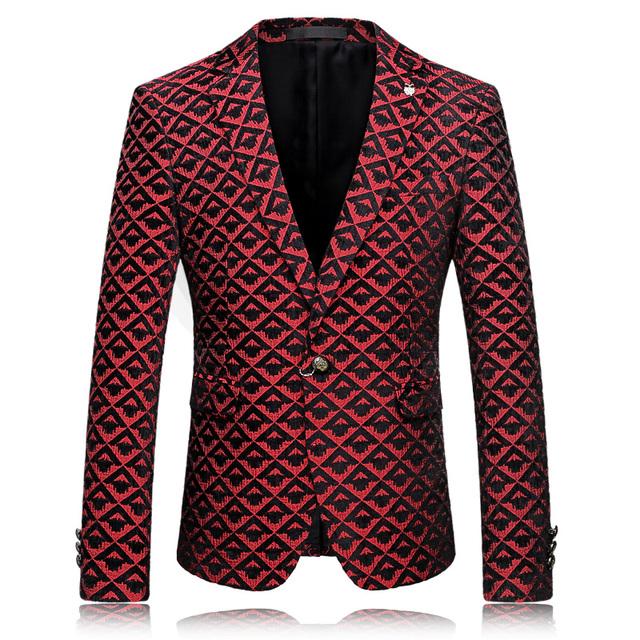 2016 Mens Ternos Blazers Bordô Vermelho Fase Marca de Roupas Para Homens Maillot Homme Masculino Sociais Clube Outfits Moda Home Coming