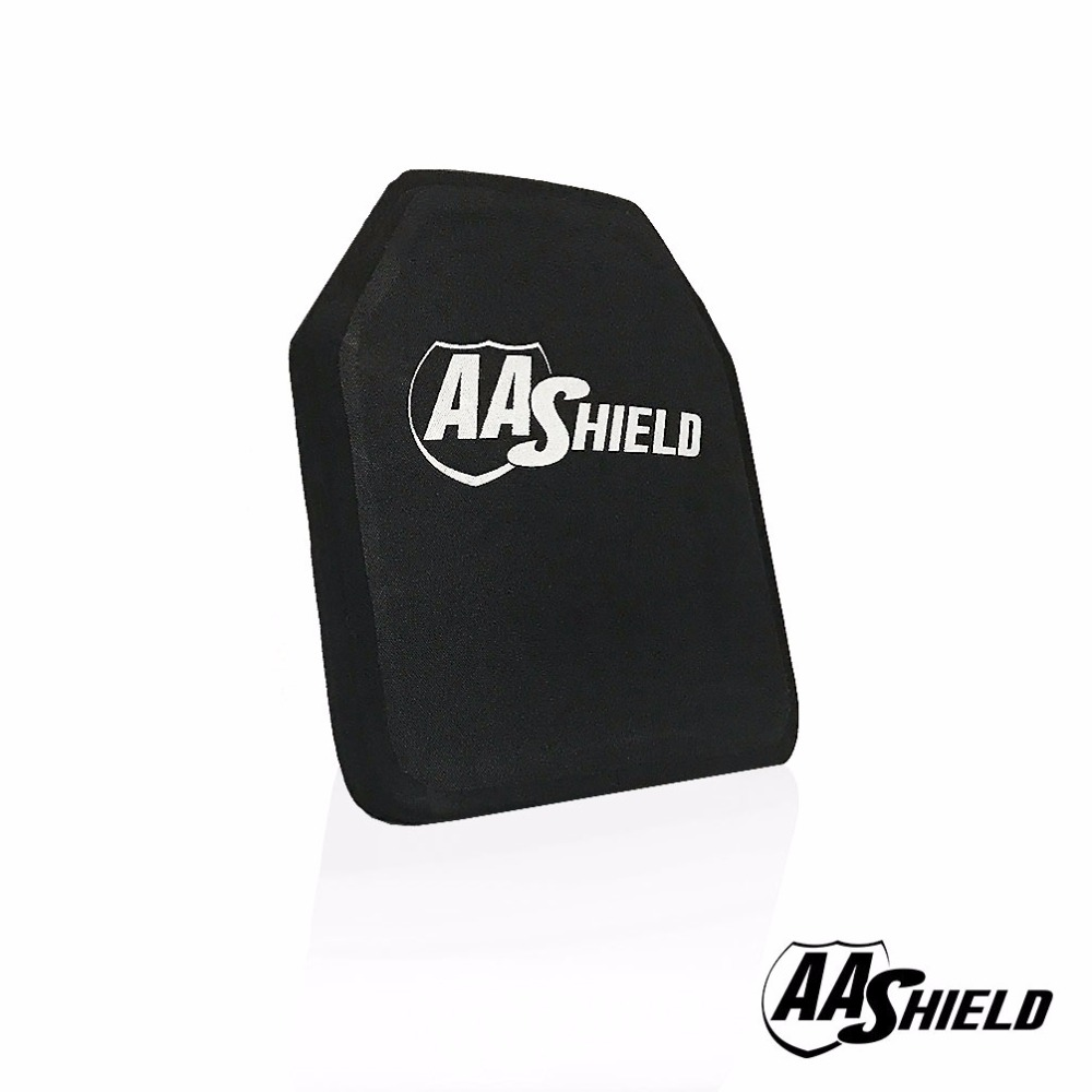AA Shield Bullet Proof Ultra-Light Weight Hard Plate Body Armor Inserts Safety Shooter Cut #2 Standalone NIJ Level IV 4  10x12