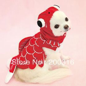 Wholesale New Arrival Goldfish Style Pet Dog's cloth Free shipping