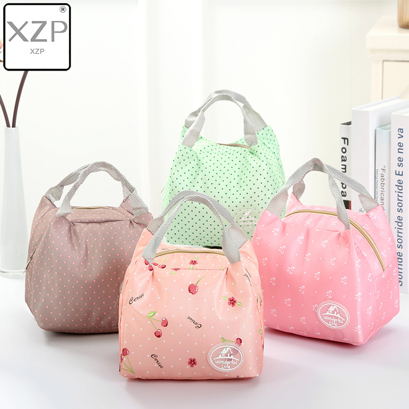 XZP Fashion Portable Insulated Oxford Cloth Lunch Bag Thermal Food Picnic Bags For Women Kids Men Print Box Tote