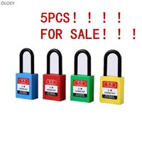 5PCS Engineering plastic insulation padlock safety lockout tag lock energy isolation lock Keys alike master key 38mm