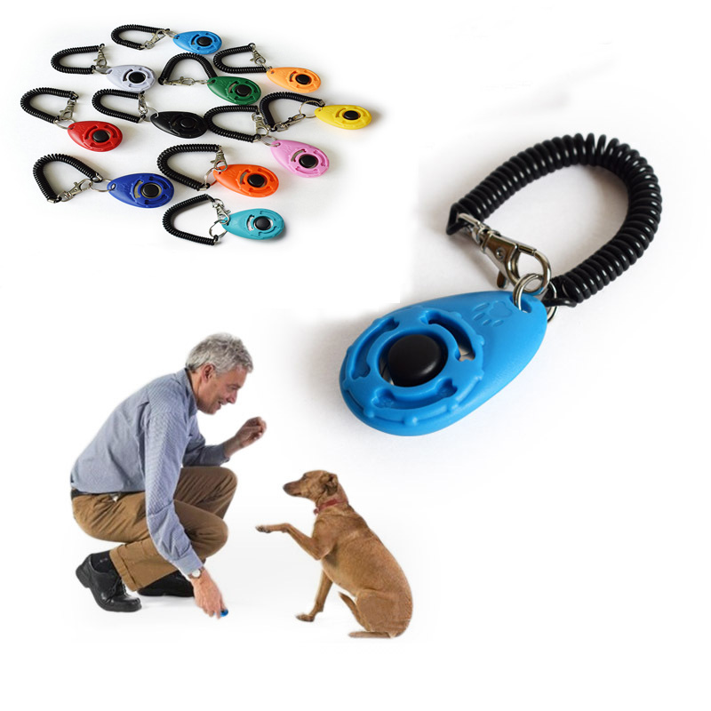 Systematisch 1 St Pet Trainer Hond Training Hond Clicker Verstelbare Sound Sleutelhanger En Polsband Doggy Trein Klik