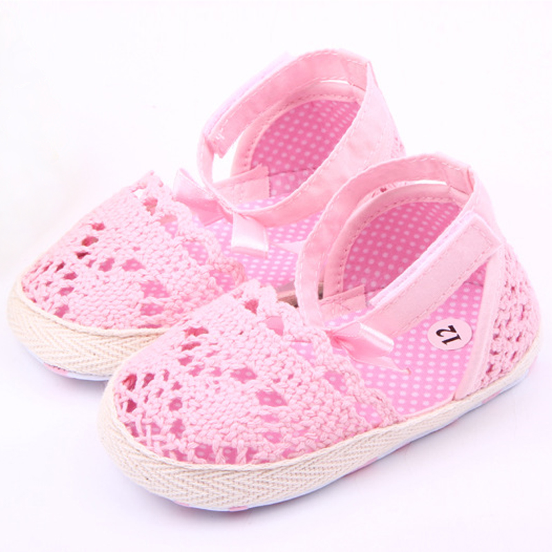 0-18M Baby Infant Kids Girl Summer Cute Sole Crib Crochet Toddler Newborn Shoes