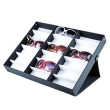 Luxury 18 Grid Sunglasses Display Tray , Eyewear, Jewelry Watches