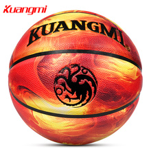 Kuangmi Fire and Ice Basketball Size 7 Indoor Outdoor Games Street Basketball Men Women's Training Ball accessories basquete
