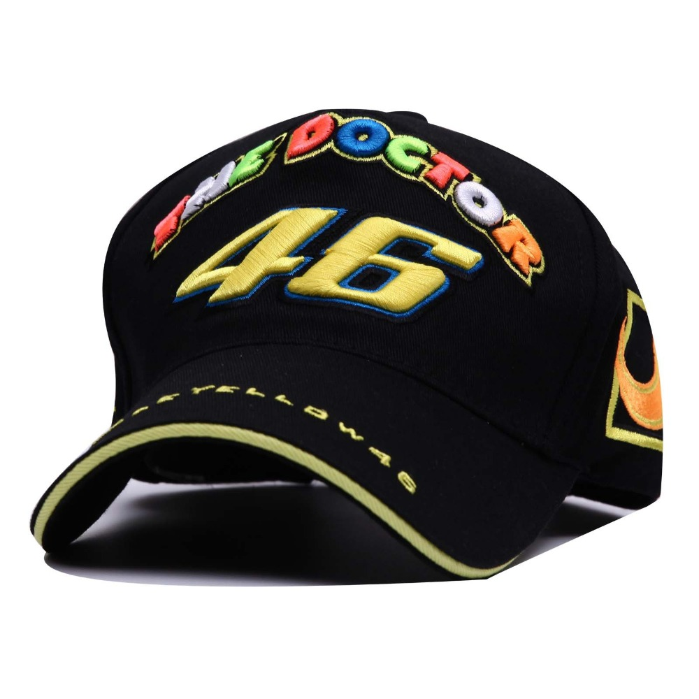 2019 New THE DOCTOR 46 Motorcycle Embroidery   Baseball     Cap   Hat Men Adjustable Snapback   Caps   Casual Sun Hats Trucker Hats