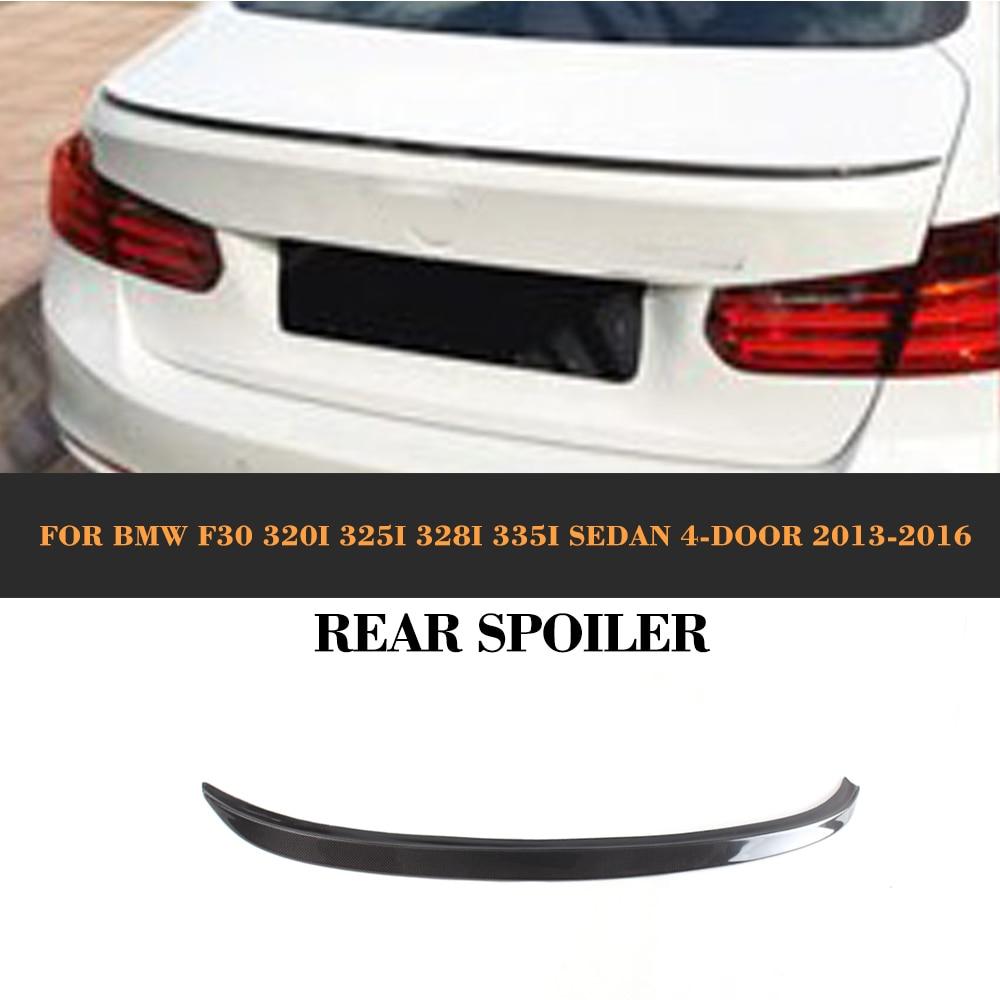 Carbon Fiber Rear Trunk Wing Spoiler lip for BMW F30 320i 325i 328i 335i Sedan 4-Door 2013-2016 black for vw volkswagen passat b8 sedan 2016 2017 car trunk lip rear aero spoiler wing trim