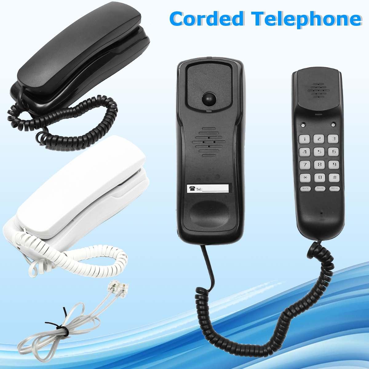 DC 48V Wall Telephone Corded Telephone Home Office Hotel Desktop Volume Control  Landline Phone White/Black