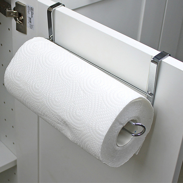 Kitchen Portable Paper Towel Rack Roll Holder Cabinet Hanging Shelf Organizer Bathroom Accessories