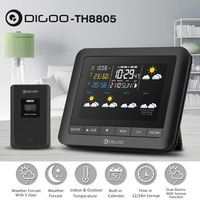 Digoo DG TH8805 Wireless Weather Station Full Color Screen Digital Barometric Hygrometer Humidity Thermometer with Sensor Clock