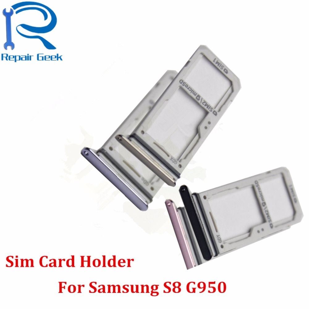 US $24 66  10pcs/Lot New High Quality For Samsung Galaxy S8 G950 Dual SIM  Card Holder Adapter with Micro SD Card Holder Slot Tray Replace-in Mobile