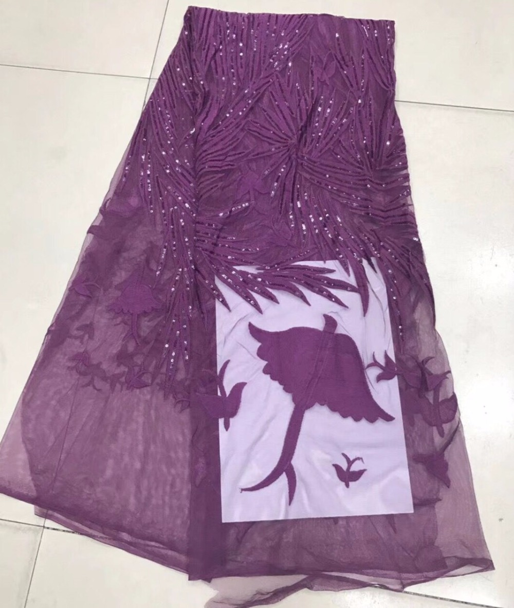 Latest African tulle Lace Fabrics 2018 High Embroidered Lace With sequins Nigerian Lace FabricsLatest African tulle Lace Fabrics 2018 High Embroidered Lace With sequins Nigerian Lace Fabrics