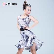 New fashion Sexy ballroom modern sleeveless Latin dance one-piece dress for.lady/female/girl dancer, costume performance wear