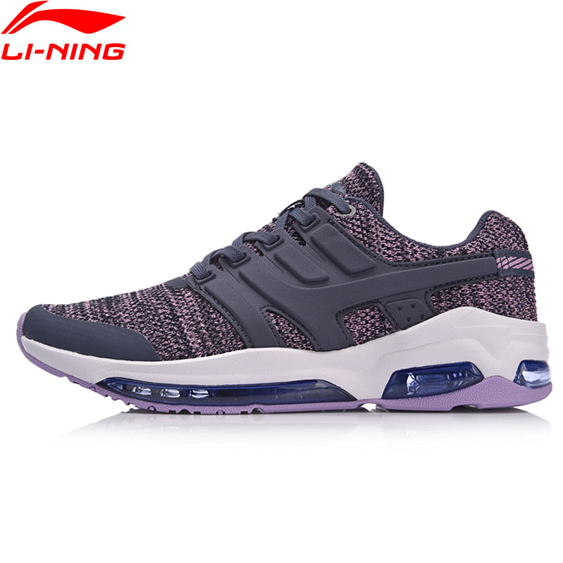 Li Ning Women Bubble Face DB Cushion Walking Shoes Fitness Comfort Sneakers Breathable LiNing Sports Shoes