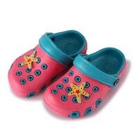 Sommer Kinder Strand Sandalen Atmungsaktive Wasserdichte Kinder Mules Verstopfen Schuhe Cartoon Weichen Doppelschicht Baby Mädchen Jungen Sandalen 24-35